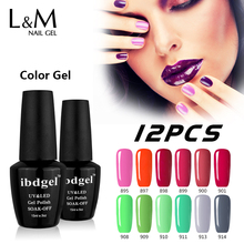 ibdgel 12 Pcs Free Shipping Primer Gel Nails (10Colors+1Top Coat+1Base Coat) Uv Kit Polish Suppliers Website Products Wholesale(China)