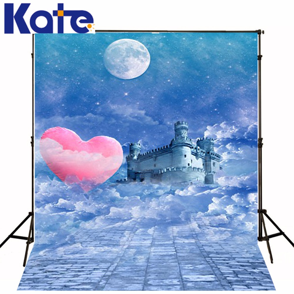 New Arrival Background Fundo Night Castle Heart 6.5 Feet Length With 5 Feet Width Backgrounds Lk 3645 ValentineS Day<br>