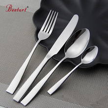Cutlery Set 24 Pieces Stainless Steel Dinner Set Restaurant Kitchen Wedding Dining Beautiful Dinnerware Set Knives Forks