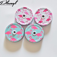 100pcs/lot wholesale for Drinking jar lids,Mason jar Lids for Baby Shower,Kids Party lids,plumyl jar lids with hole crane style(China)