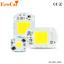 ECO Cat 5W 10W 20W 30W 50W 220V LED Lamp Chip Cold White Warm White led COB Smart IC Driver Fit For DIY LED Spotlight Floodlight