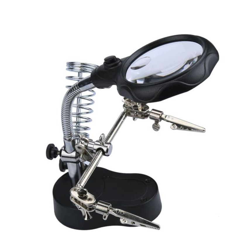 High Quality    HELPING HAND MAGNIFIER SET AND SOLDERING STAND TOOL WITH LED LIGHT Watch Repair<br><br>Aliexpress