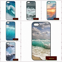 nature sea blue Ocean Waves Phone Cases Cover For iPhone 4 4S 5 5S 5C SE 6 6S 7 Plus 4.7 5.5  UJ3620