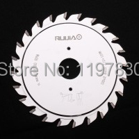 Free shipping super quality double blades 120*2.8-3.6*22*12+12T TCT adjustable scoring blade for Scoring Aluminum plate/alunimun(China)