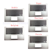 Arabic/Belgium/Persia/Niger/Thailand laptop Keyboard for ASUS UX32 UX32A UX32E UX32V BX32 UX32VD backlit Palmrest Cover(China)
