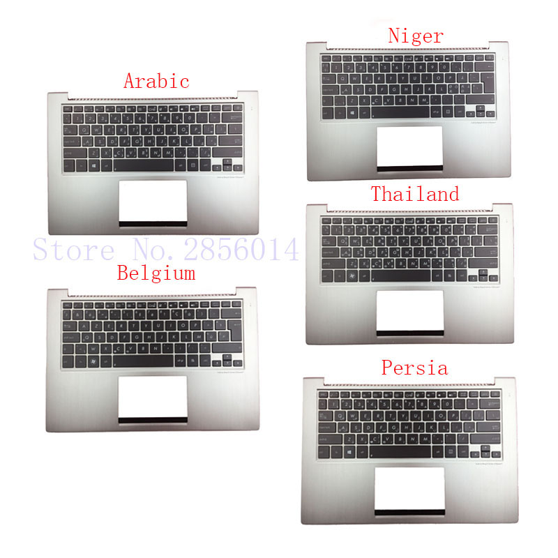 Arabic/Belgium/Persia/Niger/Thailand laptop Keyboard for ASUS UX32 UX32A UX32E UX32V BX32 UX32VD backlit Palmrest Cover<br>