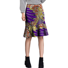 African women fishtail skirt women leisure fashion skirts ladies dashiki element africa clothing tailored custom(China)