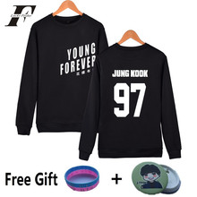 LUCKYFRIDAYF BTS Kpop Sweatshirt Women Cotton Korean Bangtan Boys Capless Women Hoodies Sweatshirts Young Forever Album Clothes