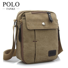 2014 New Fashion Men's Travel Bag Quality Canvas Men Messenger Bag Multi Function Brand Mini Size Style Bags for Man Color XB108(China)