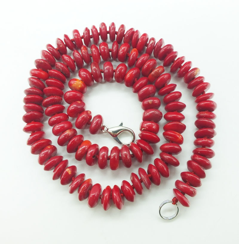 2019-1-16-1141#  Classic bridal coral necklace. 9MM high quality natural red coral necklace 20""