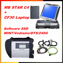 2017 for mercedes benz star diagnosis mb star c4 with 2017 09 DTS Software 240g SSD Install Well  Laptop CF30 DHL Free Shipping
