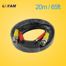 LOFAM 65FT 20M CCTV camera Cable BNC Video Power Coaxial Cable plug and Play Cable for Camera AHD DVR System CCTV accessories