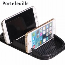 Portefeuille 2-Slot Rubber Car AntiSlip Anti Slide Sticky Grip Gel Mat Cell Phone Mount Holder Accessories suporte celular carro(China)
