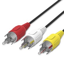 High quality 3 RCA to RCA Male to Male Cable DVD Cable Audio Video TV Cable 1.5M XC1093(China)