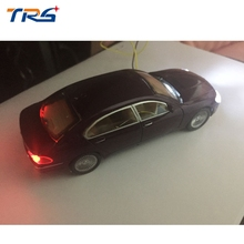 free shipping 10pcs 1:50 scale model light car with LED for HO scale model train layout