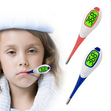 2017 New Brand Replaceable batteries Baby Adult Fever Alert Function Digital Body Soft Head Oral Alar Thermometer(China)