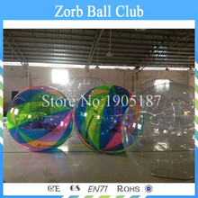 Free Shipping 2m Diameter Water walking Ball Toy Ball With TPU 1.0mm and Germany TIZIP Zipper ,Colorful Zorb Ball,Water Ball(China)