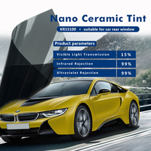 4mil thickness KR15100 Nano ceramic solar protection car window film with 1.52x5m(60inx16.67ft)