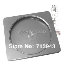 130MM*145MM*11MM cd case/DVD/CD metal box with silver color and pvc window(China)