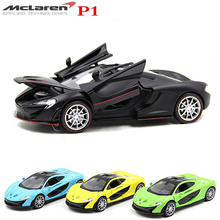 Collectible Car Toys 1:32 McLaren P1 Alloy Diecast Model Vehicles Electronic With Pull Back Gift for Kids