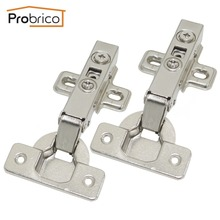 Probrico 20 Pair Soft Close Concealed Kitchen Cabinet Hinge CHR093HA Full Overlay Hydraulic Furniture Cupboard Door Hinge(China)