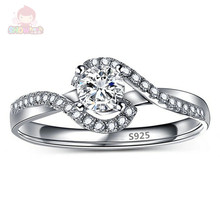 Round Shape Retail Cheap New Cute Fashion Wave Engagement Wedding Anniversary Ring Jewelry Women Valentine Gift SHAC275