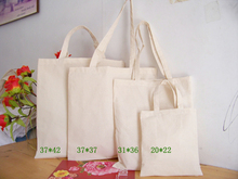 W:37cm x H:37cm Blank Canvas Cotton Tote Bag Shopping Bag Promotion Bag Advertising Bag