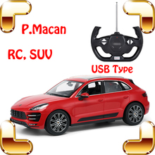 New Arrival Gift Macan 1/14 RC SUV Model Vehicle Big Racing Toy USB Charge Children Adult Fun Game Electric Drift Moving Cars(China)