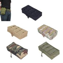 Outdoor Men Tactical Molle Pouch Belt Waist Pack Bag Small Pocket Military Zipper Bag Tactical Pockets Waist Pack Running Pouch