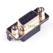 FREE shipping DB-9 50 PCS DB9 Female PCB Mount, D-Sub 9 pin PCB Connector,RS232 Connector In stock High quality good price