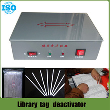 Universal eas  book  strip demagnetizer and magnetizer EM Deactivator for Library book security system