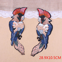 Back Patches For Jackets Big Parrot Embroidered Bird Patches Flower Iron On Patches Applique Sewing Logo Stripe Clothing Rose D1