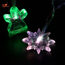 Angel Snowflake Christmas light Color Winter Decor LED String lights Christmas tree lights Garden Garlands Xmas battery 10 bulb(China)