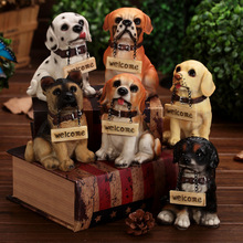 Neoteric Various Pastoral  Style Dog Resin Crafts Decor Desktop Furnishing Articles Holiday Art & Collectible