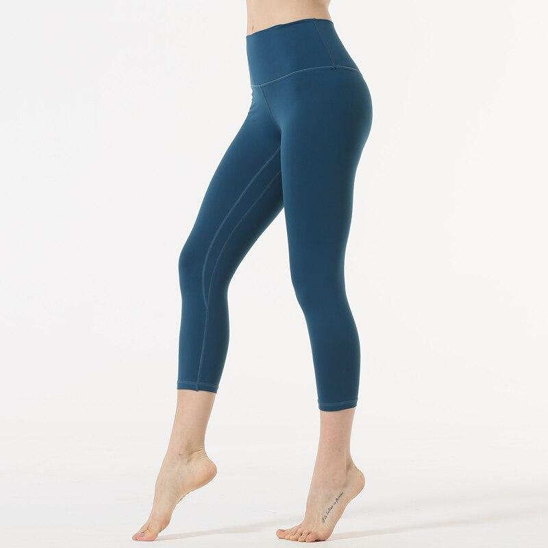 2018 Women High Waist Fitness Yoga Sport Cropped Pants Running Capri Leggings US