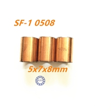 Buy 5Pcs SF1 SF-1 0508 Self Lubricating Composite Bearing Bushing Sleeve 5 x 7 x 8mm Free shipping High Quality