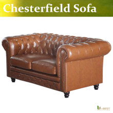 U-BEST high quality Chesterfield 2 seater Sofa,Designer chesterfield sofa,  leather loveseat sofa, living room furniture