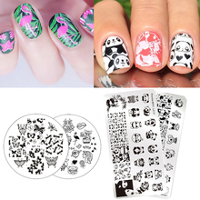 BORN PRETTY Cute Animals Series Nail Stamping Plate Owl Cat Design Manicure Nail Image Template(China)