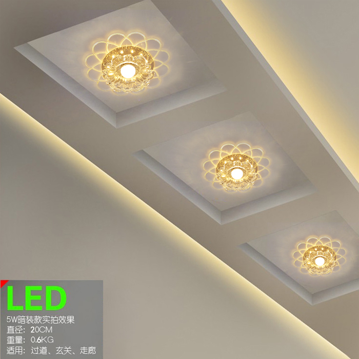 2016 The LED corridor entrance hall aisle lights lamp ceiling lamp room balcony lamp light color change<br>