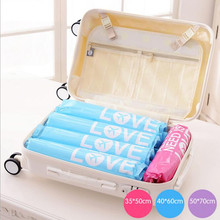 2 pcs/lot Use Without Air Pump New Design Space Saver Travel Compress Vacuum Roll-Up Storage Bag 20off