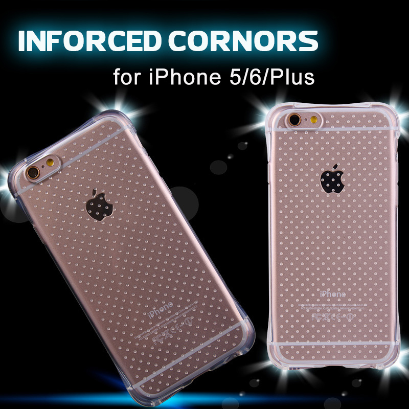 2016 New Popular Dropproof TPU Clear Cover Transparent Shockproof Soft Case for iPhone 5s 6 6s 7 Plus iPhone Case capinhas(China (Mainland))