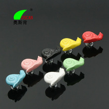 1pcs Creative Snail Ceramic Door Knobs Home Drawer Cabinet Cupboard Children Room Pull Handle Dresser Knob  With Screws