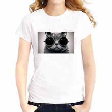 hip hop Modern cat T-Shirt Women Short Sleeve o-neck t shirt soft Breathable casual simple tshirt(China)