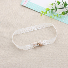 1 PC Fashion New Charm Lace Pearl Mini Bow Headband Dainty Diamond Hairband Headwear Hair Accessories