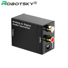 Robotsky Digital to Analog Audio Converter Adapter R/L SPDIF Optical Coaxial RCA Toslink Audio Converter for TV Box