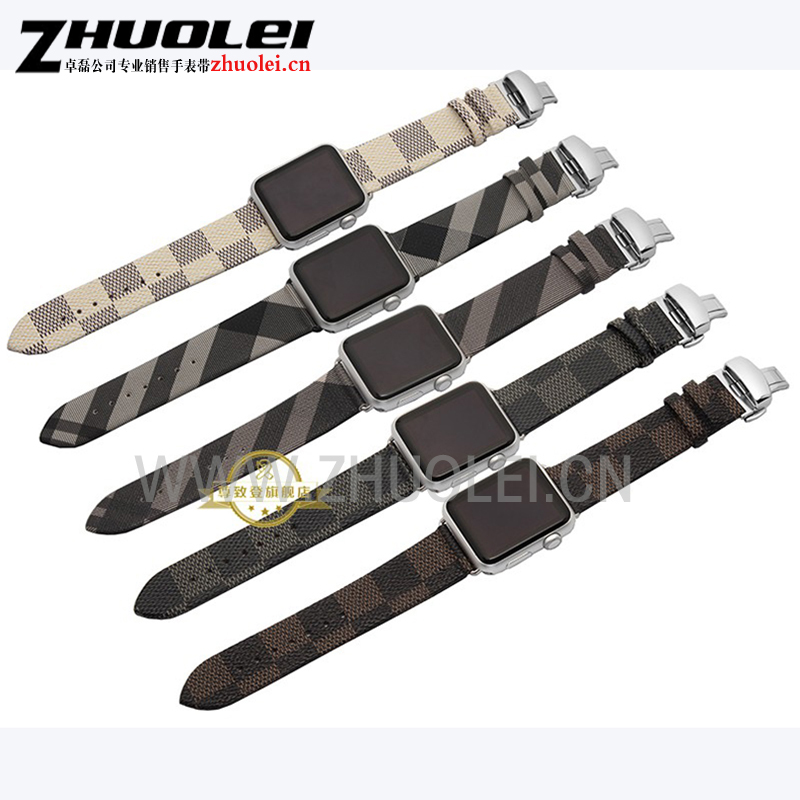 For apple watchband leather+ butterfly clasp 38mm 42mm fashion iwatch band Bracelet Contains adapter<br><br>Aliexpress