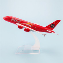 16cm Metal Aircraft Plane Model Air Malaysia Airlines Airbus 380 A380 Airways Airplane Model w Stand Kids GIft(China)