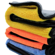 Auto Care 1pc 800gsm 45cmx38cm Super Thick Plush Microfiber Car Cleaning Cloth Car Care Microfibre Wax Polishing Detailing Towel(China)