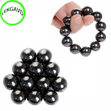 50F# 6Pcs Hematite Magnetic Stones Polished Magnetic Balls For Scinence Intelligence Massage Relaxation Heath Care(China)