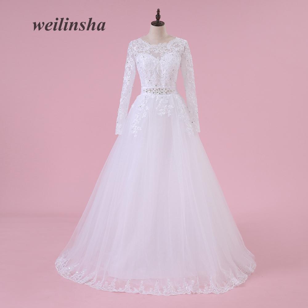 Weilinsha Apliques Románticos Vestidos de Boda de La Princesa ...